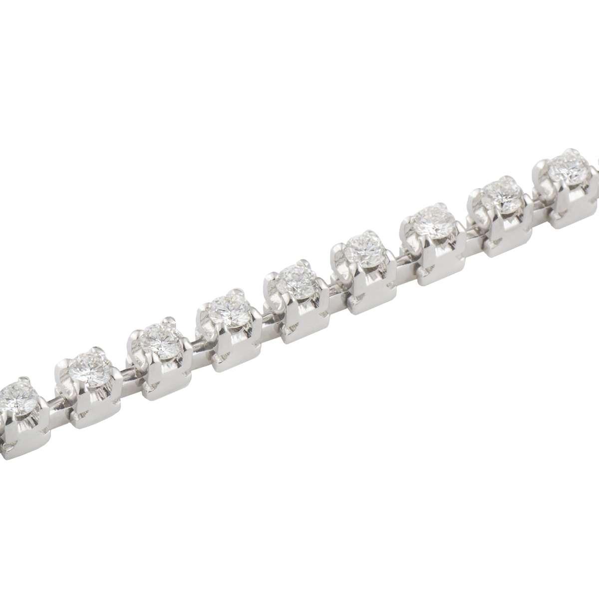 White GoldDiamond Line Bracelet 1.58ct G/VS